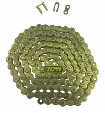 Kette Dünn 25H  68 Glieder und Schloß Antriebskette E-Scooter & Pocket Bike Gold