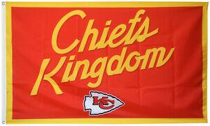 Kansas City Chiefs Kingdom Flag 3x5ft Banner