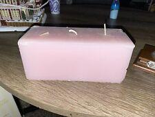 Partylite Strawberry Rhubarb 3-Wick Brick Candle New Nib! K75272 corner dents