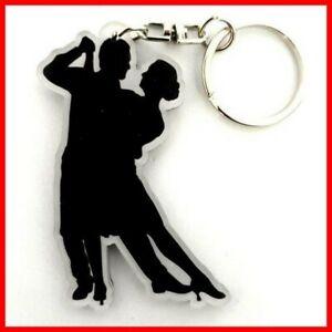 TANGO - PORTE CLE ! Argentin Danse bal Salon Couple silhouette Uruguay Keychain