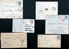 ESTONIA RUSSIA  1872-1912  POSTAL HISTORY LOT  CLEAR CANCELS  6  ITEMS