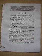 LOI relative à la fabrication des assignats de 5 livres 1791