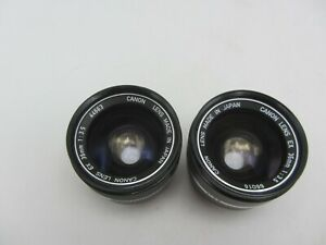Lot of 2 Canon EX 35mm F3.5 prime Lens For EX Cameras *READ*