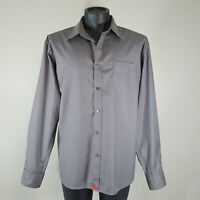 Untuckit Mens Shirt Long Sleeved Button Down Sz XL X-Large Buttoned Cuff Gray