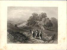 Stampa antica BETANIA BETHANY Palestina Palestine 1857 Old antique print