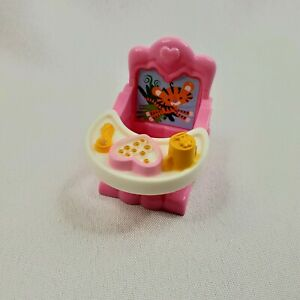 Doll House Furniture Baby Booster Seat To Clamp On Table Pink