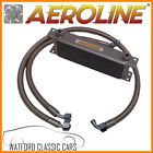 Aeroline Silver 13 Row Universal Oil Cooler With Stainless Steel Hoses MGB 67-75