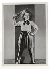 "Shirley Temple 1937 Union Dresden Film Star Series 6 5""X7"" Cigarette Photo Card"