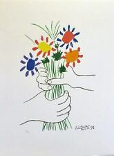 Framed Print - Pablo Picasso Le Bouquet- Lithograph Hand Signed Paris Limited