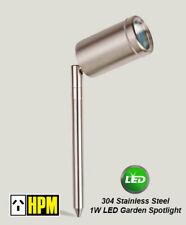 HPM 12V 1W LED Garden Spotlight - 304 Stainless Steel Light