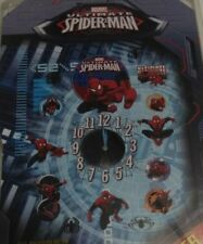 MARVEL ULTIMATE SPIDER-MAN 4'' CLOCK WALL DECALS ACTION STICKER MULTICOLORED