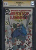 Justice League #3 CGC 9.4 3x SS Giffen & DeMatteis & Maguire 1987