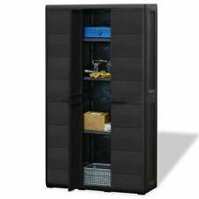 Garden Library Supermarket Storage Cabinet w/ 1/2/3/4 Shelves Yard Cabinet Shelf