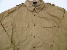 J. Peterman Co. Safari Hunting Photography Fishing Work Shirt XL Mens Tan Z1 *