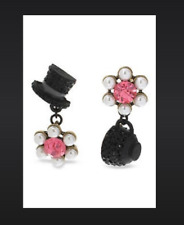 """Teacup Mismatch Drop Earrings New Betsey Johnson """"Wonderland"""" Top Hat and"""