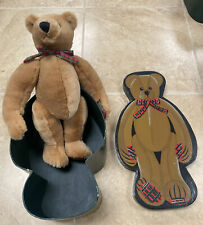 "RARE Retired FAO SCHWARTZ Fifth Avenue Hinged 16"" Bear w/ 17 1/2"" Nesting Box"