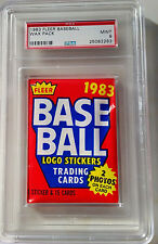 1983 Fleer Baseball Wax Pack MLB MINT PSA 9 NONE BETTER 1 of 1!