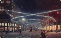 Postcard Third Avenue at Night in Birmingham, Alabama~124503
