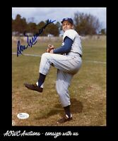 Autographed 8x10 Photo -  Don Newcombe (Brooklyn Dodgers) - JSA Certified