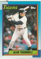 FREE SHIPPING-MINT-1990 Topps #440 Alan Trammell Detroit Tigers PLUS BONUS CARDS