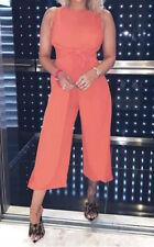 AX Paris Orange Knot Front Jumpsuit - Size 12