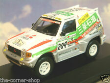 DIECAST 1/43 MITSUBISHI PAJERO MITSUBISHI OIL #204 2ND PARIS-DAKAR RALLY 1998