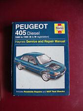 haynes car manual  for Peugeot 405