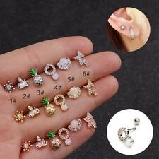 Cute Pineapple Ear Stud Cartilage Tragu Helix Earring Piercing Moonstone Jewelry