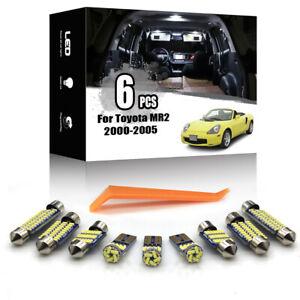 6x For Toyota MR2 Spyder 2000-2005 Car Interior LED Lighting Kit Canbus + TOOL