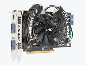 MSI NVIDIA N460GTX Cyclone 1GD5/OC 2x DVI + mini-HDMI 1 GB Dedicated SDRAM GDDR5