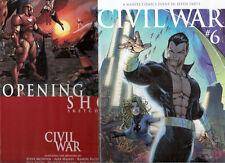 Civil War 6 Michael Turner Variant NmMt w Sketchbook Nm Marvel Comic Books
