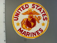 "1989 United States Marines, 4"" white felt jacket patch, brand new never issue"