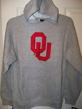 Adidas OU Sooners Gray Hoodie Jacket Boys Youth Size 14 / 16 NWT #8