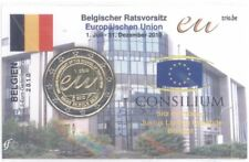 2 Euro Coincard / Infokarte Belgien 2010 EU-Ratspräsidentschaft