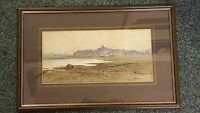 Late 19th Century Framed Watercolour Signed Grace Heathcote 1889