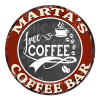 CFCB-0483 MARTA'S COFFEE BAR Sign Mother's Day Housewarming Christmas Gift