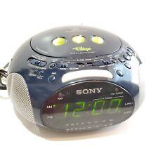 Sony ICF-CD831 Blue Psyc Dream Machine FM/AM CD Alarm Clock Radio - TESTED