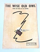 "1941 ""The Wise Old Owl"" Sheet Music"
