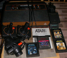 Atari 2600 Woodgrain w/2Controllers, Paddles, RFU, PS, 7Games, COMPLETE TESTED!