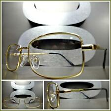 Men's CONTEMPORARY MODERN Style Clear Lens EYE GLASSES Small Gold Fashion Frame