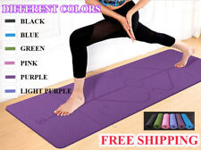 Yoga Mat with Position Line Non Slip Carpet Mat Fitness Gymnastics Mat1830*610*6
