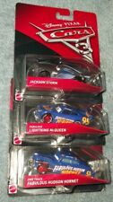 Disney Pixar Cars 3 Jackson Storm, Fabulous McQueen, & Hudson Hornet diecast