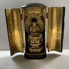 Antique Japanese Traveling Shrine Buddha