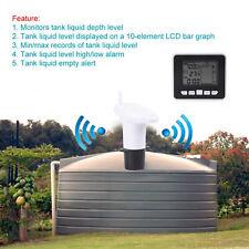 Ultrasonic Water Tank Level Meter Liquid Depth Sensor Thermo Time Indicator