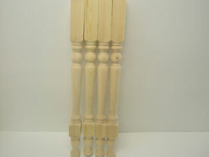 Set of 4 Solid Pine Washstand Legs, WT007