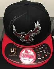 DALY CHERRY EVANS SIGNED CAP IN DISPLAY CASE