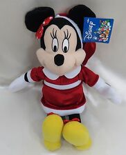 """Disney Minnie Mouse 14"""" Santa Toy Factory Plush New with Tags"""