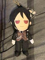 "Black Butler Sebastian 8"" Doll Plush And Keychain Anime Manga"
