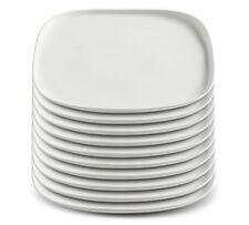 10er SET Maxwell und Williams ELEMENTAL Teller 25,5 cm Weiß / Speiseteller