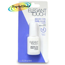 Elegant Touch Ultra Strong Quick Drying Brush On Nail Glue 6ml Clear